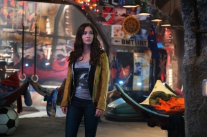 Megan Fox plays April O'Neil in TEENAGE MUTANT NINJA TURTLES, from Paramount Pictures and Nickelodeon Movies.