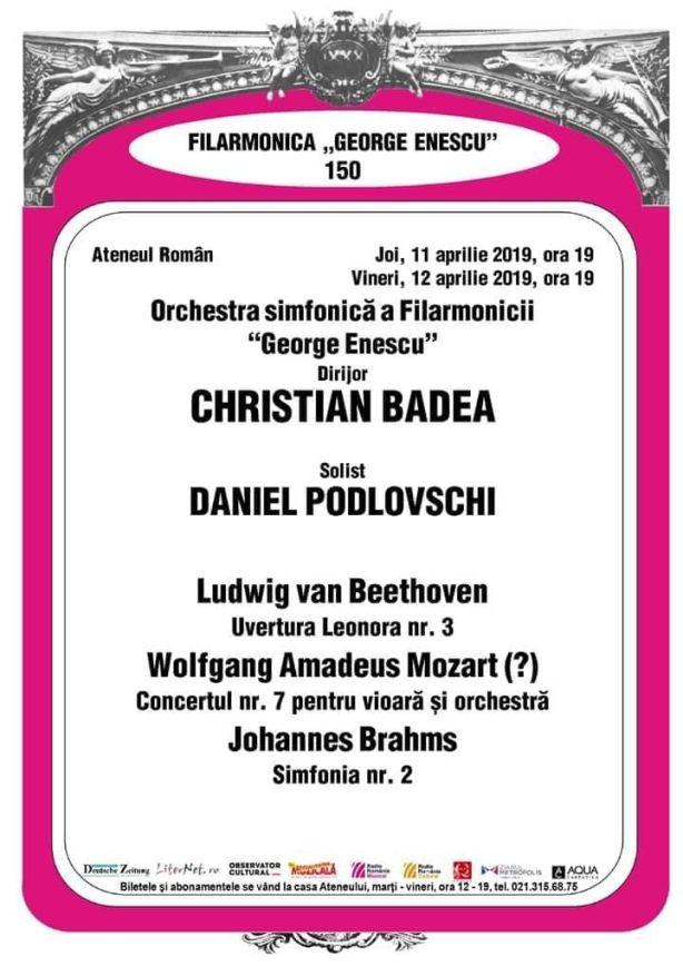 Afis concerte 11-12 aprilie