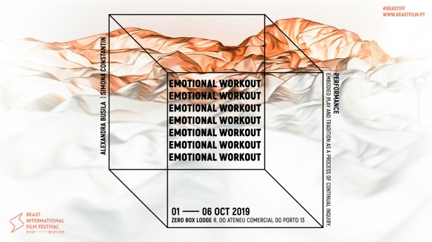 Afiș performance artistic Emotional Workout